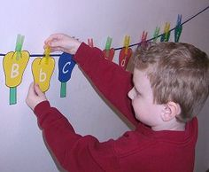 Clothes Line Sequencing and Matching ... can be used for letters ... numbers ... colors ... shapes ... names ... sight words.