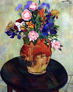 Bouquet of flowers on a table -Susan Valadon - 1930