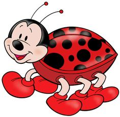 Lady Bug or Gentleman Bug - This Clip-Art can be used as a stencil for wafer paper transfers, butter cream transfers, fondant cut outs, painting on to cakes etc and many uses for cupcakes and cookies too. ( has a resemblance to Micky Mouse? San Antonio, Art Mignon, Bug Art, Clip Art, Cute Clipart, Bugs And Insects, Cute Illustration, Digital Stamps, Cartoon Art
