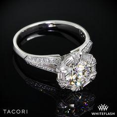 Tacori Simply Tacori Diamond Halo Engagement Ring.