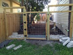 how to make a gate for a wire fence - Google Search | yard ...