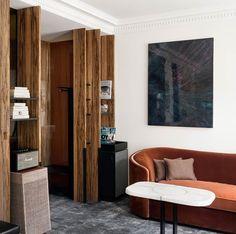 A Look Inside Les Bains Hotel, Paris — urdesignmag Paris Rooms, Hotel Paris, Hotel Room Design, Interior Architecture, Interior Design, Hotel Interiors, Hospitality Design, Commercial Interiors, Contemporary Interior