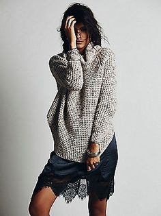 Free People Dylan Tweedy Pullover at Free People Clothing Boutique