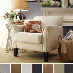 Uptown Modern Furniture Toronto overstock - tribecca home uptown modern accent chair and ottoman