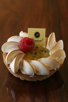 pastry with passion fruit yum