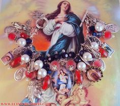 "Catholic Virgin Mary ""Patroness of the United States"" Religious Medals Bracelet www.letyscreations.com"