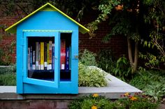 Tiny Libraries... Maybe in a sunroom or outside on a patio