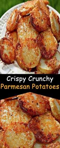 Side dish recipes 842525042777496480 - Crispy Crunchy Parmesan Potatoes – INSPIRATION Source by goodrecipesofhome Potato Side Dishes, Vegetable Side Dishes, Vegetable Recipes, Potato Recipes, Chicken Side Dishes, Potato Food, Queso Frito, Tartiflette Recipe, Great Recipes