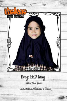 KOLEKSI GAMIS ANAK: Thaluna Bergo Elsa Navy  Bahan : Baloon Spandex  Type  : Jilbab  Ready size Standar (Rp.50.000)