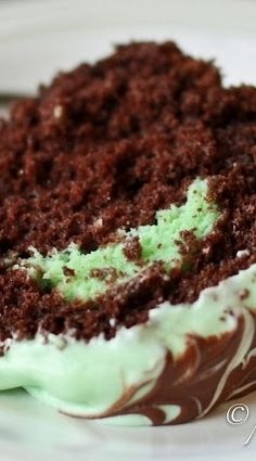Chocolate Mint Bundt Cake ~ very easy to make and VERY yummy