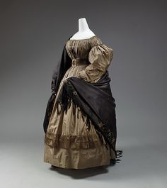 Dress, silk, European