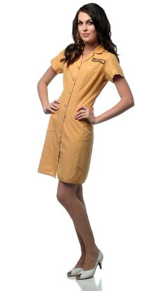 Vintage TACO BELL Waitress Uniform 60s 70s Diner Mini by ShopExile