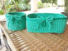 Jogo  de cestos #cesta #organization #fiodemalha #trapillo #trapilho #fiodemalhaecologico #organizaçao #compredequemfaz #feitocomamor #feitoamao