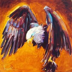 """""""CONTEMPORARY BALD EAGLE PAINTING by OLGA WAGNER"""" - Original Fine Art for Sale - © Olga Wagner"""