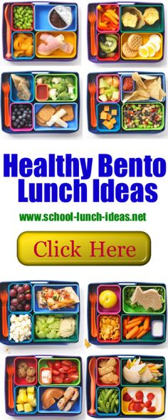 Healthy Bento Lunch Ideas for Young Kids - Aside from healthy lunch ideas for young kids, check out these colorful bento boxes for kids from Laptop Lunches.  For more creative ideas for kids lunches LIKE US on Facebook @ https://www.facebook.com/SchoolLunchIdeas #bentolunch #healthylunches #lunchideas #schoollunch