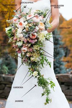 Wedding Bouquet Recipe VII – A Lush Cascading Bridal Bouquet