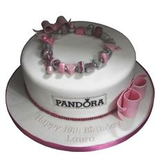 <b>Pandora Birthday Cake</b><br />With an edible Pandora bracelet, this cake gives approx 40 portions, from £90