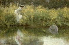 Arthur Hacker - Lost Parasol Arthur Hacker (25 September 1858 – 12 November 1919) was an  English classicist painter.