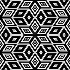 Picture of Black and white seamless background - Escher style. stock photo, images and stock photography. Illusion Drawings, Illusion Art, Escher Art, Pop Art Wallpaper, Geometric Mandala, Seamless Background, Mandala Tattoo, Optical Illusions, Ink Art