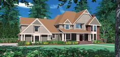 Craftsman House Plan 2336 The Sleighton: 3737 Sqft, 3 Beds, Baths Double Entry Doors, Entry Hall, Door Entry, Craftsman House Plans, Craftsman Style, Traditional Style Homes, Cedar Shingles, Dormer Windows, Wood Siding