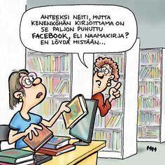 Naamakirjaa etsimässä / Searching for #Facebook from a library...