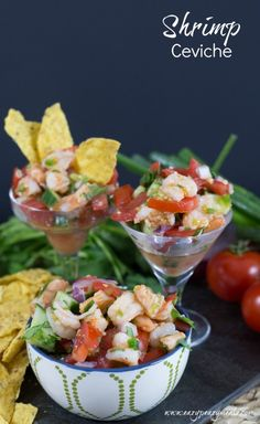 Shrimp ceviche, the perfect appetizer, a delicious seafood dip Fish Recipes, Seafood Recipes, Mexican Food Recipes, Appetizer Recipes, Cooking Recipes, Appetizers, Healthy Recipes, Seafood Dip, Shrimp Ceviche