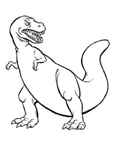 Dinosaurs Print Out Coloring Pages from Dinosaurs Coloring Pages for Kids. Dinosaurs are one of the oldest beings known in the history of our planet, so the youngest in the house must know about them. For this reason, we have... #printable #coloringpages #coloring #coloringbook #coloriage