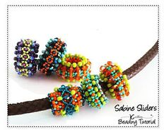Beading Pattern Right Angle Weave Beaded Spacers Slider