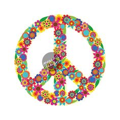 Floral Peace Sign Decal  Colorful Flower Car by MeganJDesigns, $8.00
