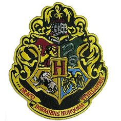 """Harry Potter The 4 Houses of Hogwarts Crest Patch 4 3/4"""""""