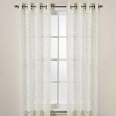 DKNY Halo Grommet Sheer Window Curtain Panels in Ivory - BedBathandBeyond.com