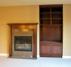Great entertainment center for ultimate storage!  Made By: Lakeside cabinets and Woodworking