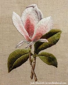 Long & Short Stitch and Needle Painting ~ Magnolia