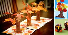 Something Special ~ Fall Tree Craft F is for Fall trees/leaves! Paper towel tubes and fake leaves. Kids Crafts, Thanksgiving Crafts For Kids, Family Crafts, Tree Crafts, Preschool Crafts, Holiday Crafts, Party Crafts, Thanksgiving Table, Leaf Crafts