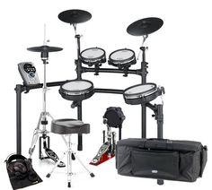 Roland TD-15KV V-Drum Mesh Head Set      EUR 2698.00 / Set bestehend aus:  ROLAND TD-15KV V-Tour Drum Set E-Drum Set / MILLENIUM HH-901 Pro Series Hi-Hat Maschine / MILLENIUM PD-122 Pro Bass Drum Pedal Fussmaschine / MILLENIUM E-Drum Bag Gigbag / MILLENIUM MDT2S Drum Throne Sattel Drummersitz in Sattelform / SUPERLUX HD-662 Studiokopfhörer