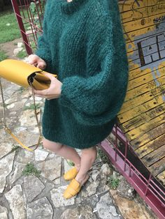 Urban fluffy oversize sweater handmade by Wool Nomads Big Knits, Cardigans For Women, Knitwear, Urban, Unisex, Wool, Boutique, Sweaters, Handmade