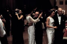 Gloria Guinness dancing with Capote at his Black and White Ball 1966