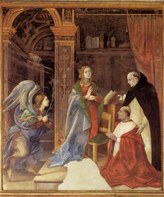 Filippino Lippi - The Annunciation with Cardinal Oliviero Carafa. 1489 -1491