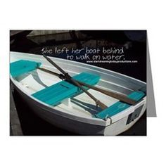 She Left Her Boat Behind Note Cards