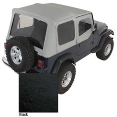The PreOwned Jeep Store - XHD Soft Top, Black, Clear Windows, 88-95 Jeep Wrangler (YJ), $475.03 (http://www.buyjeeppartsonline.com/jeep-xhd-soft-top-black-clear-windows-88-95-jeep-wrangler-yj/)