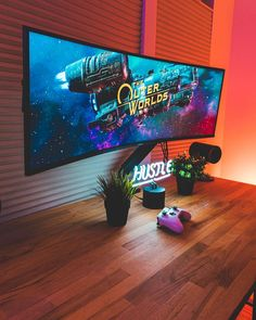 Computer Gaming Room, Gaming Room Setup, Computer Setup, Pc Setup, Desk Setup, Gamer Bedroom, Bedroom Setup, Room Ideas Bedroom, Room Decor