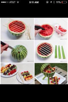 DIY Watermelon Bbq, Super Awesome If Your Hosting Something In The Summer Time