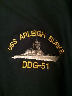 USS Arleigh Burke DDG-51 Guided Missile Destroyer Ship's Crew Command Coat X LG