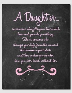 Gift for Daughter Daughter Print Birthday Teens by vtdesigns