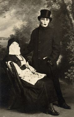 "Voted ""Creepiest Couple"" class of 1910. 
