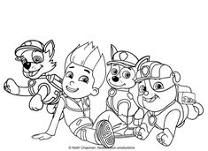 Paw Patrol Coloring Pages, Quote Coloring Pages, Free Printable Coloring Pages, Colouring Pages, Adult Coloring Pages, Paw Patrol Characters, Coloring Pages For Kids, Animal Drawings, Disney
