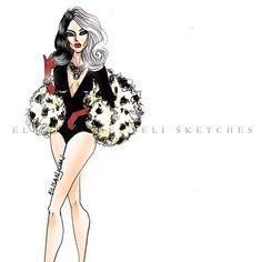 Instagram media by elistjohn - Disney High-Fashion   Villains (Version 2.0)  #FashionIllustration #EliSketches…