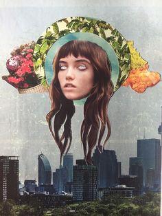 Oracle.   #collage #art #magazine #handmade #diamondeyes #texture