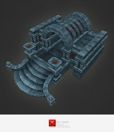 3D Model Hand Painted Dungeon Entrance - 3D Model