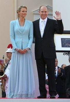 Civil ceremony outfits of Prince Albert and Princess Charlene